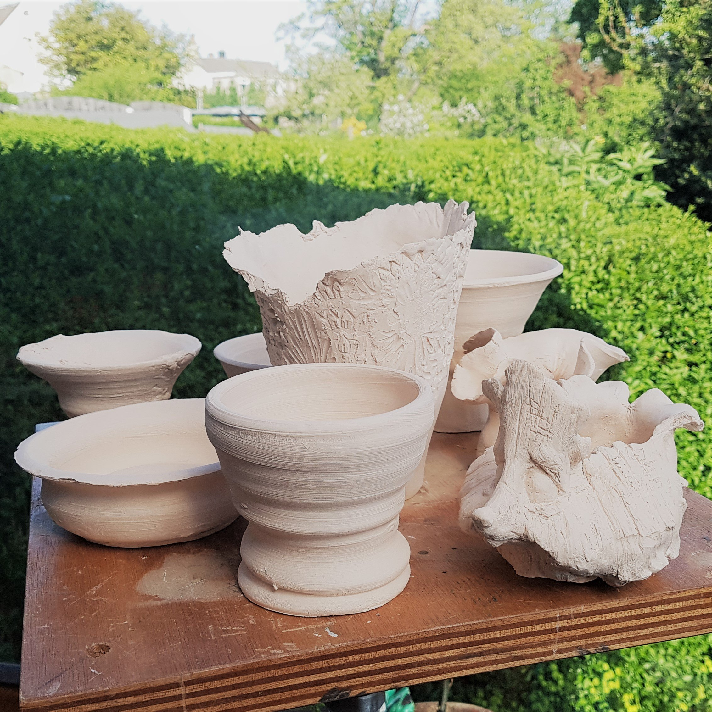 Bisque Fired Pot Collection
