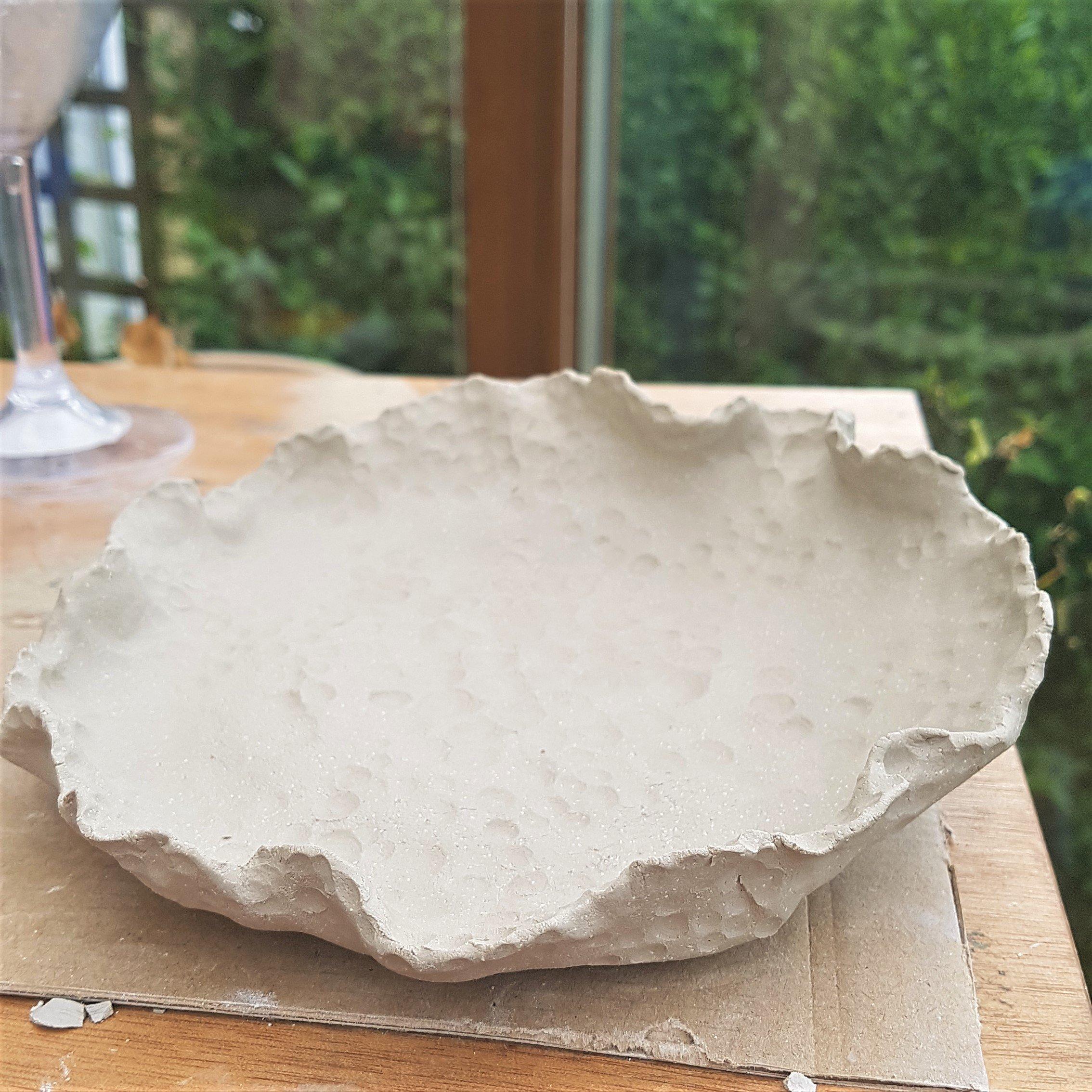 Air Dried Clay Flat Dish