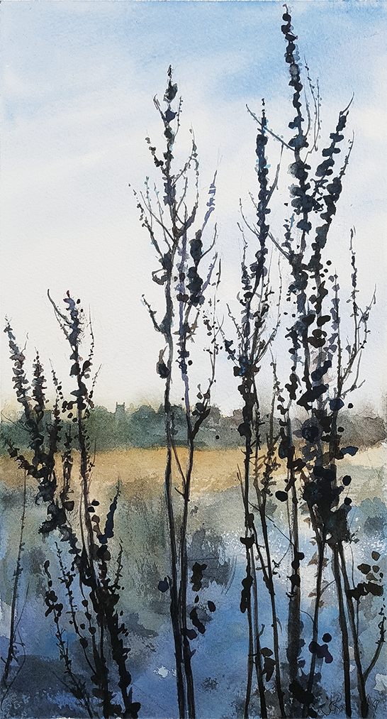 Cawthorne Winter Walk II, 2019, Watercolour | Julia Brown