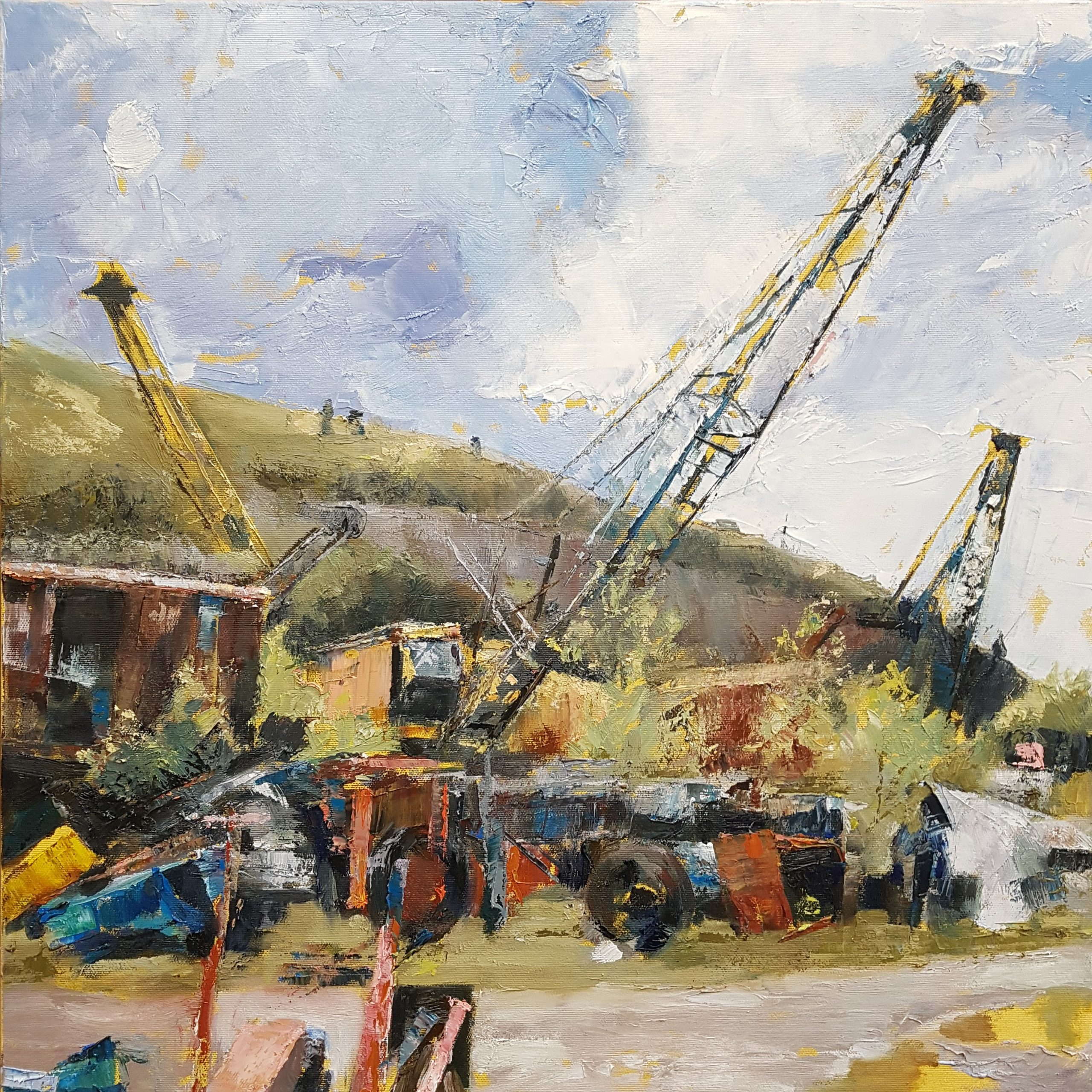 Threlkeld Quarry, 2019, Oil on canvas (61 x 61cm) | Julia Brown