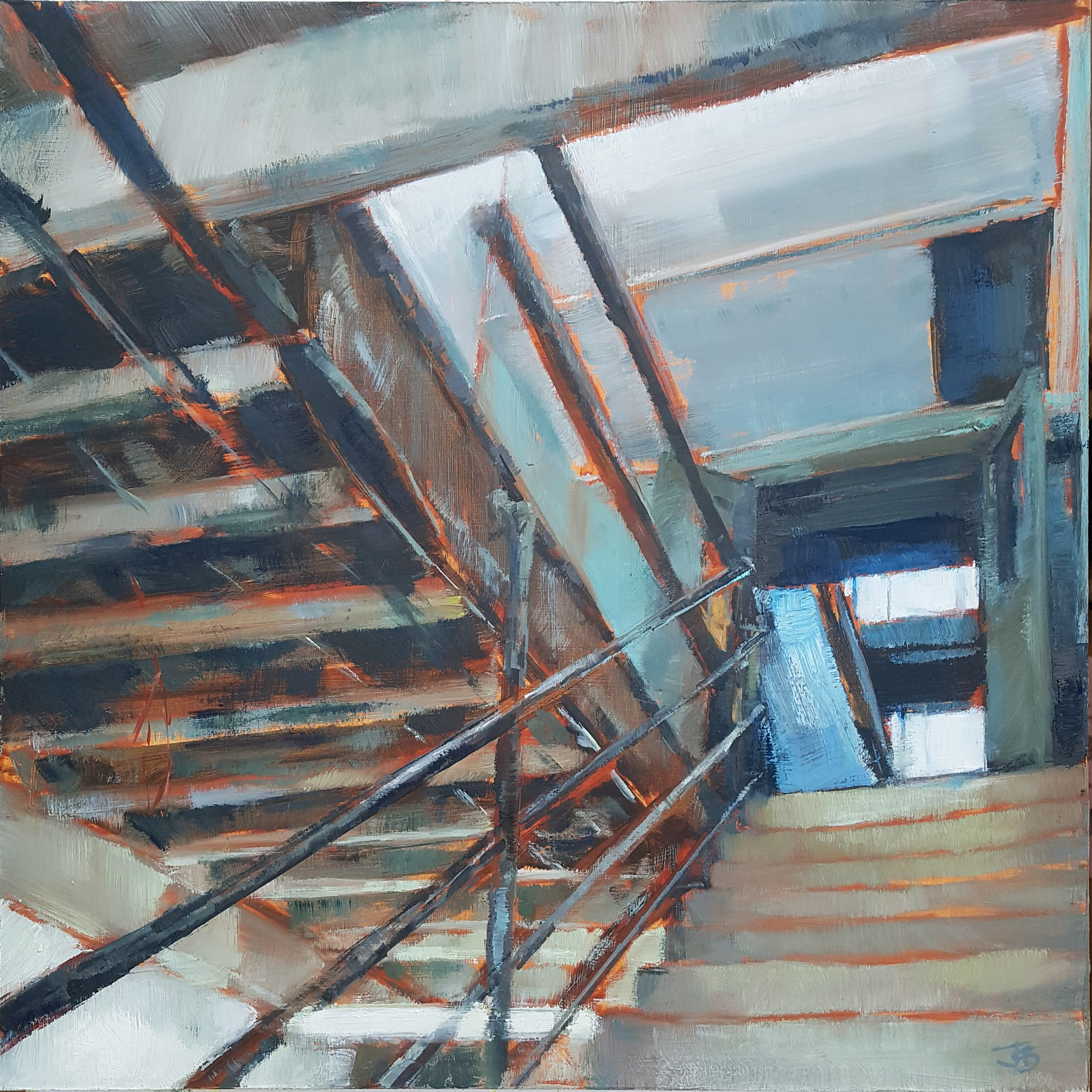 Core, 2020, Oil on board (45 x 45cm) | Julia Brown