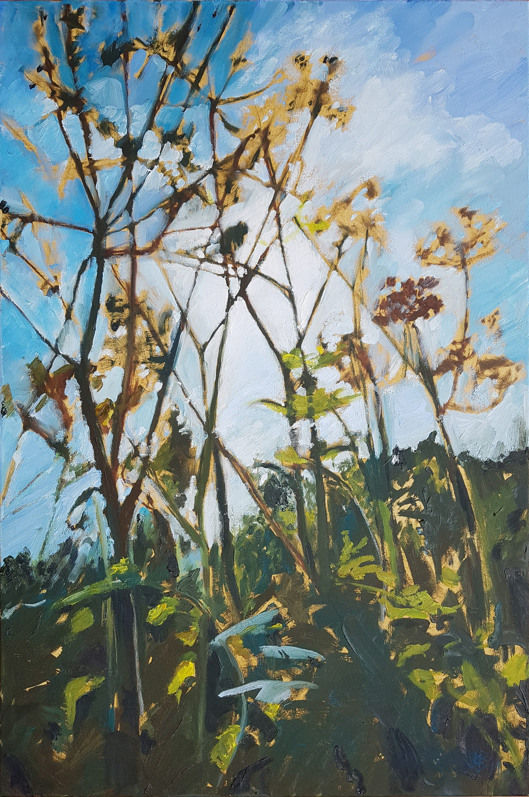 End of Summer, 2019, Oil on canvas (76 x 51cm) | Julia Brown