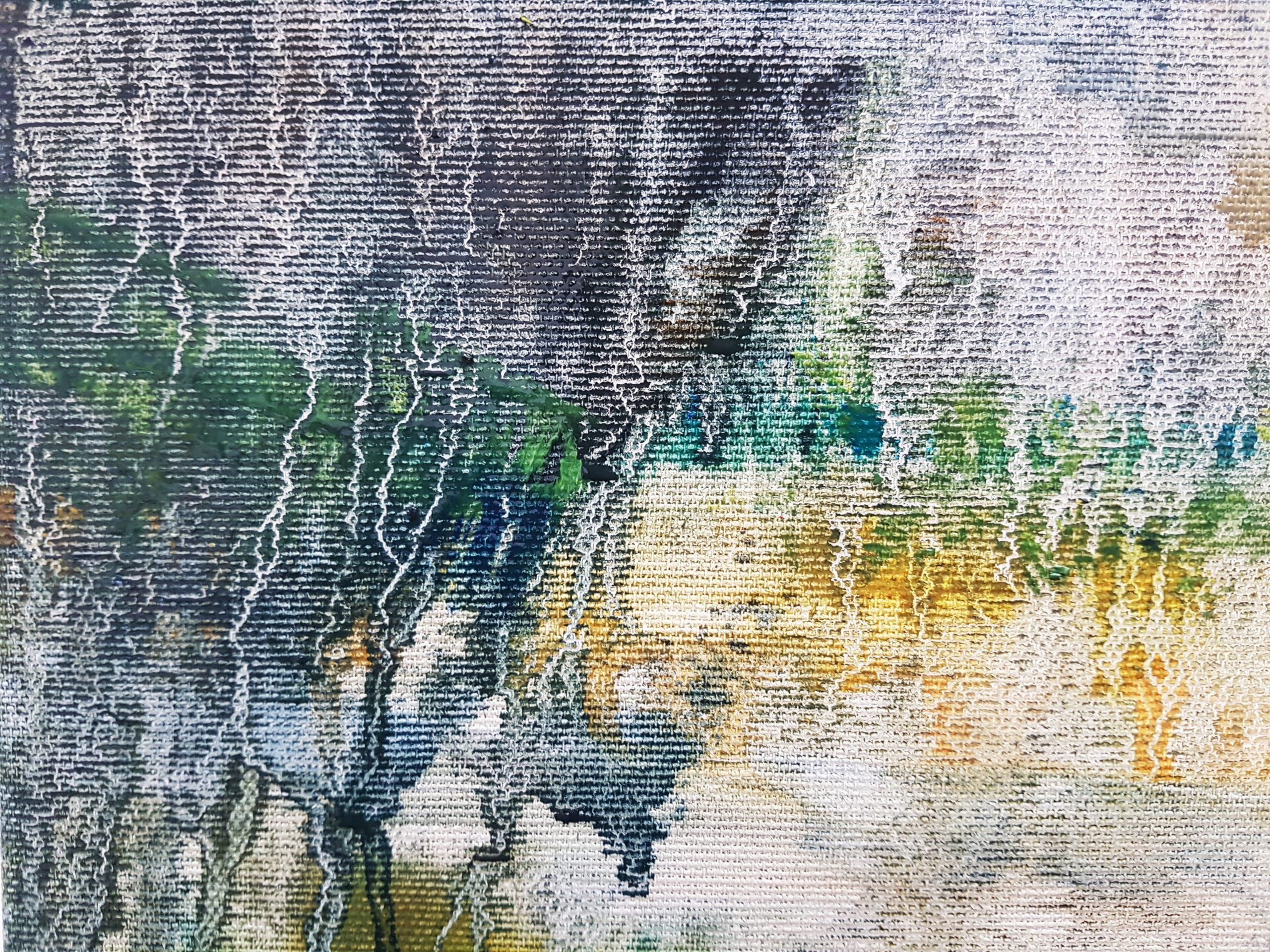 'Detour' 2020 (Detail), Oil on canvas | Julia Brown